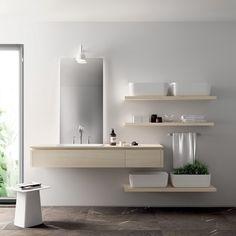 Weiße Becken Qi Kollektion Badezimmer #bathroom #modern #ideas