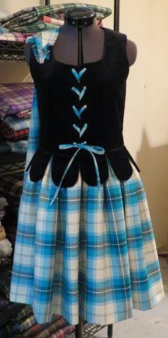 Aboyne with black vest by Karen's Kilts & Highland Dance Costumes  #morrar #blue #tartan
