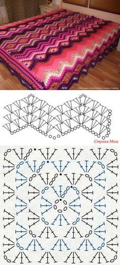 All crochet:Blanket pattern...♥ Deniz ♥: