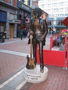 Phil Lynnot (Thin Lizzy) Statue, Harry Street, Dublin