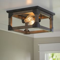 This two light flush mount fixture in stardust is the perfect way to achieve your desired fashion or functional needs in your home. Making a statement without overpowering the surrounding decor, th…