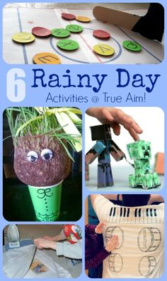 6 Rainy Day Activities including DIY Chia Pets, paper Minecraft crafts, and more!