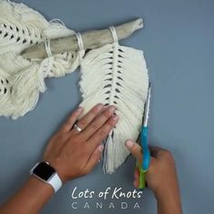 Likes, 54 Comments - Chantel Conlon Diy Crafts Hacks, Rope Crafts, Diy Home Crafts, Cool Diy Projects, Yarn Crafts, Handmade Crafts, Macrame Design, Macrame Art, Macrame Projects