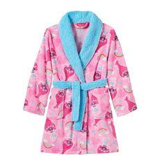 Girls 4-12 DreamWorks Trolls Poppy Fleece Bath Robe, Girl's, Size: