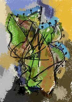 Informal digital painting by Americo Gobbo with a simple mouse. Gimp brushes of L'ubomir Zabadal, Greenery series.