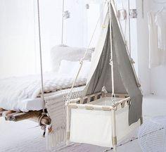 8 swaying cradles to rock your baby #bassinet #cradle #hangingcradle #naturalnursery #canopy #whitenursery