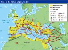 Ancient Roman Trading Map