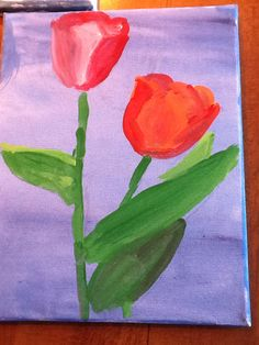 Tulips acrylic on canvas