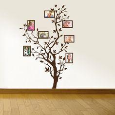 Árvore com molduras, vinil autocolante decorativo de parede