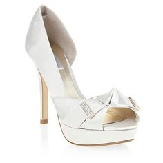 Special Edition - Ivory diamante bow end courts - High heel shoes - Shoes & boots - Women -