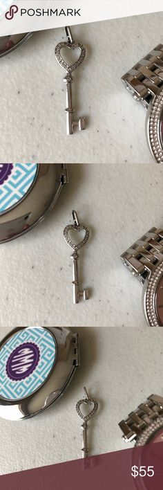 Pretty 🌸 Open Heart Key Pendant 925 Open Heart Key Pendant 925 💎 Beautiful Detail 💎 Similar Pendant listed at $195! 😱 💎 Bundle and Save 💎 Reasonable Offers Welcomed Jewelry