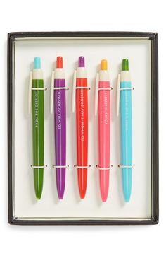 kate spade new york ballpoint pens (set of 5)