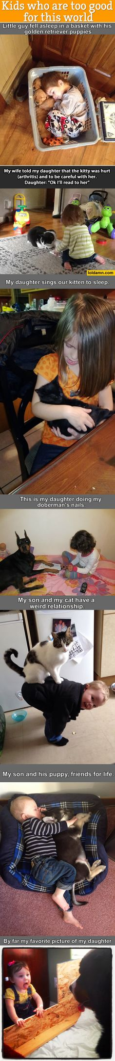 Pets and their tiny humans