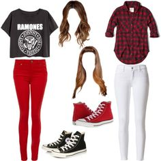 Untitled #57 by maho-coello on Polyvore featuring polyvore fashion style Abercrombie & Fitch Paige Denim Converse