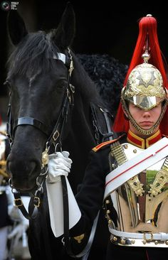 British Army's Household Cavalry Mounted Regiment.
