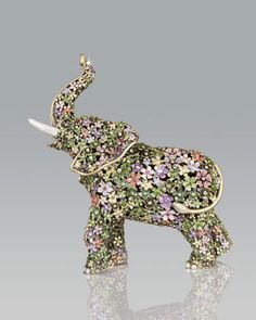 Boxwood Elephant Figurine by Jay Strongwater at Horchow.