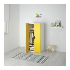 STUVA Storage combination with doors - white/yellow - IKEA