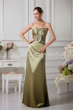 Very detailed and delicate olive color for a dress maids.