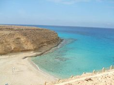 Coast near Marsa Matruh, Egypt. The place is known for its white soft sands and calm transparent waters. ---Mmmm, it looks lovely!