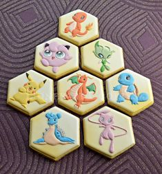 Are you confused in searching for the theme of your children's birthday party? You can make something phenomenal today such as pokemon birthday party ideas. Pokemon Birthday, Pokemon Party, Cookies For Kids, Cute Cookies, Galletas Cookies, Sugar Cookies, Royal Icing Cookies, Birthday Cookies, Cookie Designs