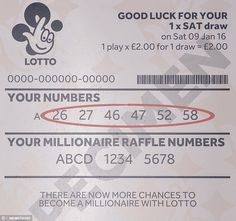 Camelot is urging people to check their tickets as a Lotto jackpot prize of £33,035,323 has yet to be claimed. The lucky numbers for this month's biggest ever prize were 26, 27, 46, 47, 52 and 58