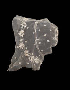 Woman's cap of embroidered net | Museum of Fine Arts, Boston