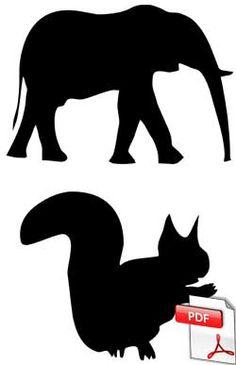 Code-barres à la manière de Vasarely - Silhouettes d'animaux