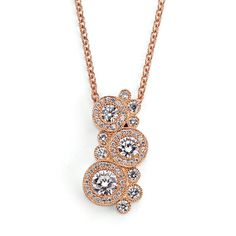 Best Necklace from 2012 JCK Jewelers' Choice Awards      O Collection triple diamond pendant with 0.42 ct., 0.25 ct., and 0.14 ct. round brilliant diamonds in 18k rose gold with 0.43 ct. t.w. melee suspended on a matching rose gold cable chain; $8800; Rahaminov Diamonds