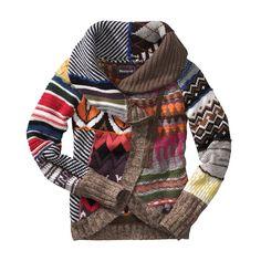 Side Zip Cardigan kind of funky but I like it! Top Mode, Modelos Fashion, I Love Fashion, Fashion Design, Sweater Weather, Comfy Sweater, Ugly Sweater, Refashion, Autumn Winter Fashion