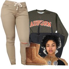 A fashion look from October 2016 featuring russell athletic shirts, round toe booties and handbags totes. Browse and shop related looks. Chill Outfits, Swag Outfits, Dope Outfits, Trendy Outfits, Teen Fashion, Fashion Outfits, Womens Fashion, Polyvore Outfits, Polyvore Fashion