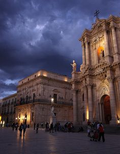 Stormy Duomo - Ortigia, Siracusa, Sicily by Luke Robinson, via Flickr
