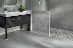 Guest bath tile options.