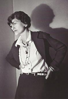 Gabrielle 'Coco' Chanel (53) - 1936 - Paris - Photo by Boris Lipnitzki - @~ Watsonette