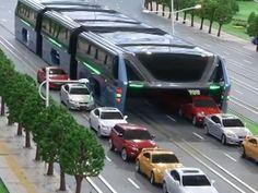Chineses crias ônibus que 'passa por cima' de engarrafamentos