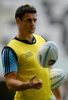 You don't need to know much about rugby to appreciate this photo of Dan Carter. Anyone else picturing him as the quintessential cocky sports hero who unwittingly falls for a smart-mouthed reporter?