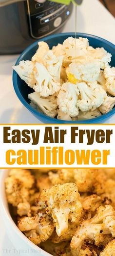Air fryer cauliflower is easy to make in your Ninja Foodi or other machine. Heal… Air fryer cauliflower is easy to make in your Ninja Foodi or other machine. Healthy and full of flavor it's a great vegetable side dish or snack. Air Fryer Oven Recipes, Air Frier Recipes, Air Fryer Dinner Recipes, Air Fryer Recipes For Vegetables, Recipes For Airfryer, Recipes Dinner, Air Fryer Rotisserie Recipes, Air Fryer Chicken Recipes, Air Fryer Recipes Potatoes