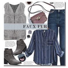 Yoins Casual: Faux Fur Vest