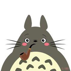 Day Totoro relaxes after a tough day. Gif Totoro, Cute Gifs, Manga Anime, Studio Ghibli Art, Japanese Characters, Disney Tsum Tsum, My Neighbor Totoro, Hayao Miyazaki, Kawaii Drawings