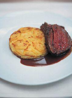 Marinated & pot-roasted beef fillet with a brilliant potato & horseradish cake I Jamie Oliver