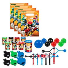 56 pcs. Power Rangers Dino Charged Party Favor Value Set - Favors or Piñata Fillers