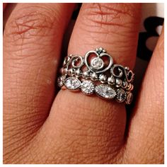 1bb5dbc12 discount pandora my princess with clear cz stackable ring wear ...