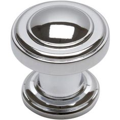 Atlas Homewares 1-1/4 in. Polished Chrome Round Cabinet Knob-313-CH - The Home Depot