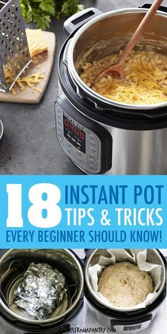 Get the most out of your Instant Pot with these 18 Instant Pot Tips and Tricks! Whether you are just a beginner or have been an Instant Pot pot recipes wings 18 Instant Pot Tips and Tricks Instant Cooker, Instant Pot Pressure Cooker, Pressure Cooker Recipes, Pressure Cooking, Best Instant Pot Recipe, Instant Pot Dinner Recipes, Instant Recipes, Pie Recipes, Crockpot Recipes
