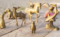 tiny brass animals Woodland Theme, Wedding Inspiration, Brass, Robin, Animals, Vintage, Decor, Style, Swag