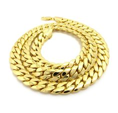 18k Gold Plated Thick Miami Cuban Link 30 Inches – DatNewIce