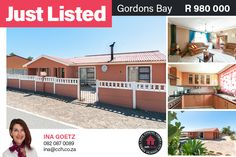 Be the proud owner of this renovated property with beautiful mountain views of the Hottentots Holland Mountains. As you enter the house, you are welcomed by a dining room with enough space for large family. A Jetmaster fireplace in the lounge promises for warm and cosy winter days. Temperance Town is close to schools, churches, shopping malls and easy access to Sir Lowry's Pass road and the N2. 𝘾𝙤𝙣𝙩𝙖𝙘𝙩 Ina Goetz on 080 087 0089 / ina@cch.co.za #CCH #helderberg #gordonsbay… Jetmaster Fireplace, Cosy Winter, Shopping Malls, 3 Bedroom House, Coastal Homes, Mountain View, Bay Area, Easy Access, Holland