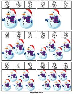 Snow Activities, Winter Activities For Kids, Autism Activities, Christmas Activities, Kindergarten Math, Preschool Activities, Winter Theme, Pre School, Kids Learning