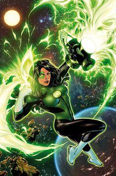 Green Lantern Jessica Cruz in Green Lanterns # 2 - Cover Art by Emanuela Lupacchino & Tomeu Morey
