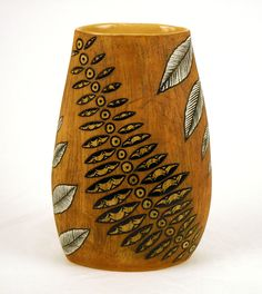Title: Fern Vase,  Artist: Nosikhumbuzo Khabane,  Technique: Hand-building,   Medium: Stoneware clay,   Height:40cm,   Width: 25cm,  Place: Capetown
