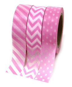 Another great find on #zulily! Pink Washi Tape Set #zulilyfinds